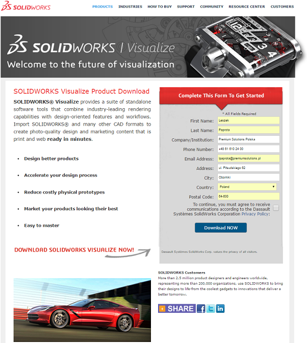 SOLIDWORKS Visualize -instalacja krok po kroku